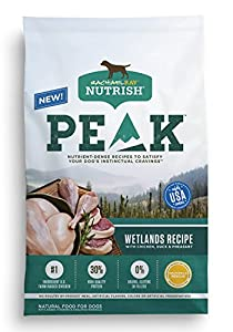 Rachael Ray Nutrish PEAK Natural Dry Dog Food, Grain Free Wetlands with Chicken, Duck & Pheasant, 23 lbs
