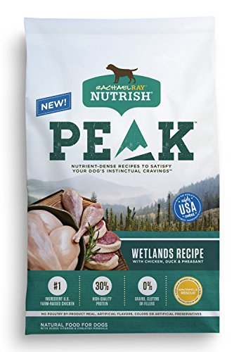 Rachael Ray Nutrish PEAK Natural Dry Dog Food, Grain Free, Wetlands Recipe with Chicken, Duck & Pheasant, 23 lbs