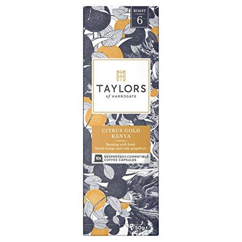 Taylors of Harrogate Espresso Coffee Capsules Nespresso Compatible Citrus Gold Kenya 10 capsules (Pack of 6, Total 60 Capsules)