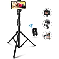 60-inch Selfie Stick Tripod, UBeeszie Extendable Cell Phone Tripod Stand with Wireless Remote Shutter, Compatible with…