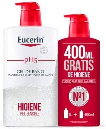 Eucerin Family Pack Ph5, Pack de Gel De Baño 1000 ml y Gel De Baño 400ml: Amazon.es: Belleza