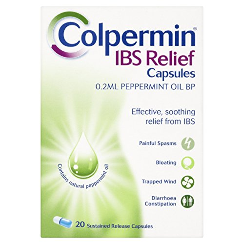 Colpermin Peppermint Oil Capsules 100 Capsules for Irritable Bowel ()
