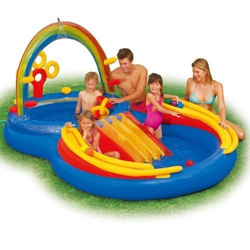 INTEX Inflatable Kids Rainbow Ring Water Play Center 57453EP ()