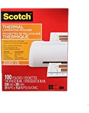 """Scotch Thermal Laminating Sheets, 9"""" x 11.5"""", 5-Mil Thick, 100 Laminating Pouches"""