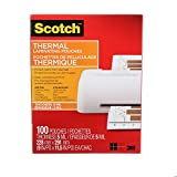 Scotch Thermal Laminating Pouches, 8.97-Inch x 11.45-Inch (Per Pouch), 5-Mil Thickness, 100 Pouches Per Pack, (TP5854-100-C)