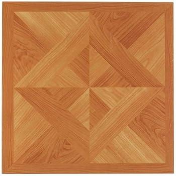 20 Tiles//20 Sq.Ft. Classic Light Oak Diamond Parquet NEXUS 12x12 Self Adhesive Vinyl Floor Tile