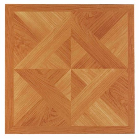 NEXUS 12x12 Self Adhesive Vinyl Floor Tile - 20 Tiles/20 Sq.Ft. (Classic Light Oak Diamond (Light Oak Flooring)