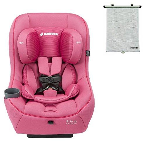 2015 Maxi-Cosi Pria 70 Convertible Car Seat, Pink Berry with BONUS Retractable Window Sun Shade