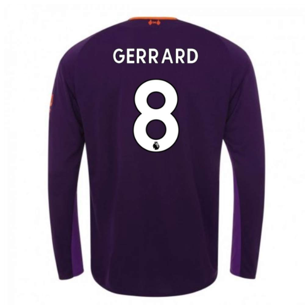 2018-2019 Liverpool Away Long Sleeve Football Soccer T-Shirt Trikot (Steven Gerrard 8) - Kids