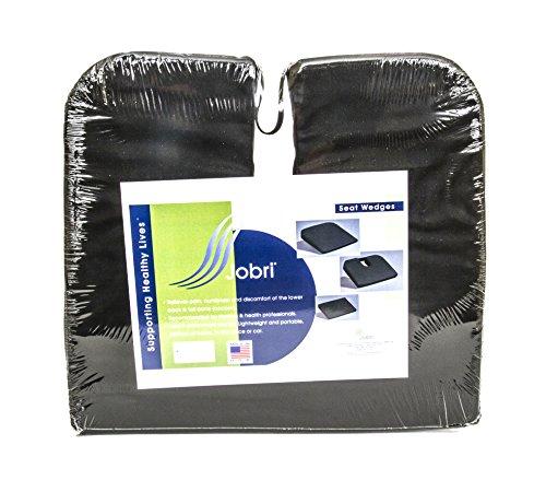 Jobri BetterPosture Sacro Seat Wedge Plus with Coccyx Cutout – Chair Wedge Cushion – Seat Wedge for Car – (Jobri Office Chair)