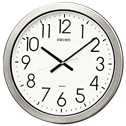 SEIKO CLOCK ( Seiko clock ) wall clock office type quartz moisture and dust type metal frame KH407S