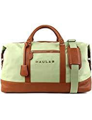 Weekender Bag, Haular Overnight Travel Carry On Duffel Tote Holdall Bag [Brass Finishing] Canvas