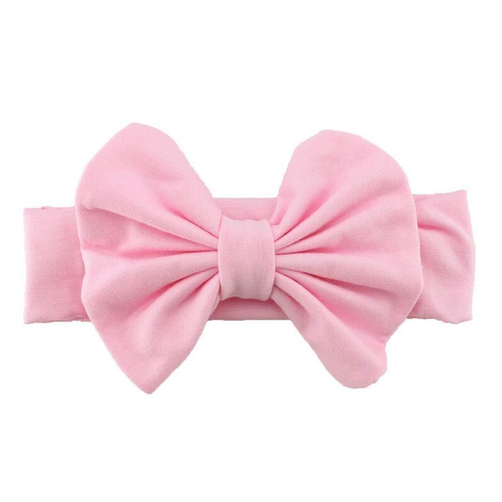 mxdmai Baby Taufe Stirnbänder Nettes Baby Haarband Haarreifen mit Bowknot, Rosa