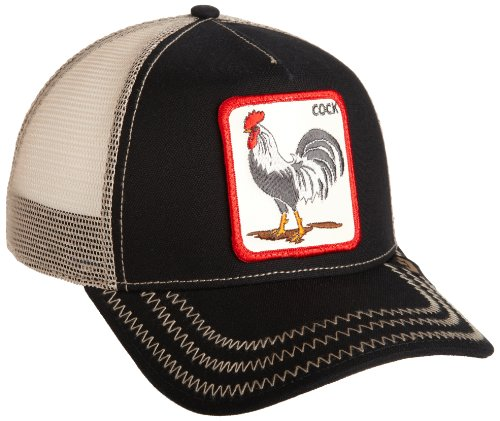 Goorin Bros. Men's Rooster Baseball, black, One Size (Rooster Hat)