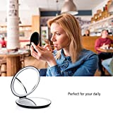 butyface LED Lighted Travel Makeup Mirror, 1X/7X