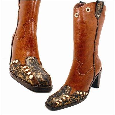 Capelta Almabrava Mujeres Alma Brava Cowboy Botas Tamaño: Eu 38 / Us 7-8, Color: Marrón