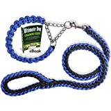 Olivery Heavy Duty Dog Martingale Braided Collar with Solid Hand Crafted Leash for Small/Medium/Large Dogs, Agility Obedience Behavior Training and Everyday Walk, Free Training eBook (Blue, Large)