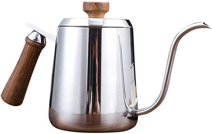 TUONABT Hermosa y Duradera Hervidor Strietop Dripper, Acero Inoxidable Cuello de Cisne cafetera infusión de la Taza de té con café (Color : Stainless Steel, Size : 350ml): Amazon.es: Hogar