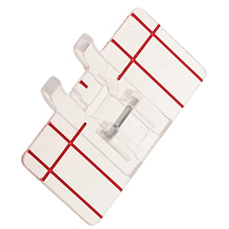 Sharplace Prensatelas de Plástico para Puntadas Paralelas de Plástico Claro para Máquina de Coser Doméstica