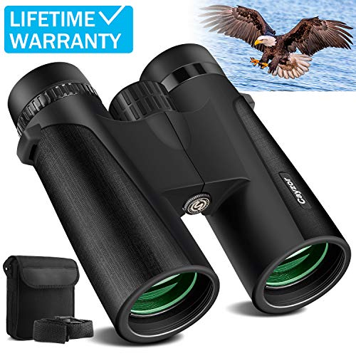 Cayzor 12x42 Binoculars for Adults - HD Professional Binoculars for Bird-Watching Traveling Stargazing Camping Concerts Sports - BAK4 Prism FMC Lens Strap Carrying Bag (Best Size Binoculars For Birding)