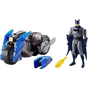 DC Justice League Action Flame Blaster Batman Figure & Batcycle Vehicle