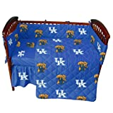 Kentucky Wildcats 5 Piece Crib Set - Entire Set includes: (1) Reversible Comforter, (1) Bed Skirt , (2) Fitted Sheets and (1) Bumper Pad - Decorate Your Nursery and Save Big By Bundling!