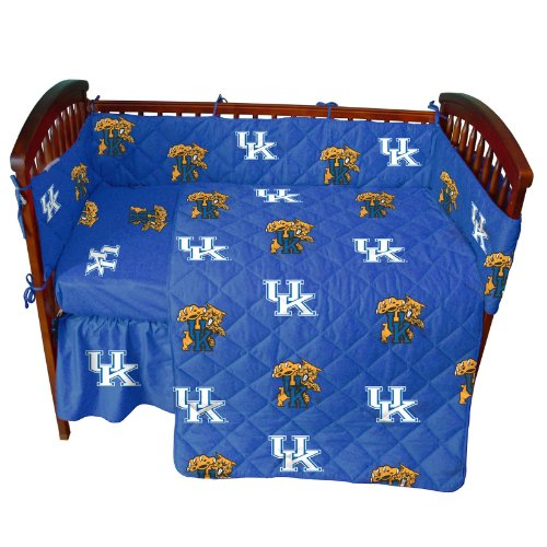 (Kentucky Wildcats 5 Piece Crib Set - Entire Set includes: (1) Reversible Comforter, (1) Bed Skirt , (2) Fitted Sheets and (1) Bumper Pad - Decorate Your Nursery and Save Big By Bundling!)