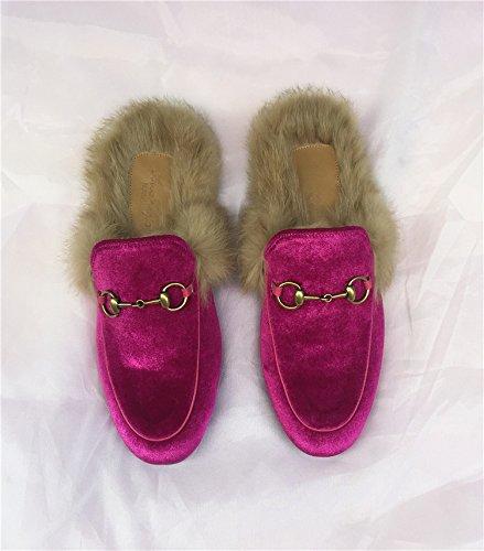 Caduta fankou piatto scarpe donna pigri con bassa pantofole ,40, viola chiaro