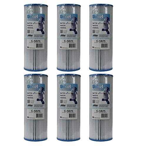 Unicel C-5625 Spa Replacement Cartridge Filter 25 Sq Ft Jacuzzi CFR-25 in-line (6 Pack)