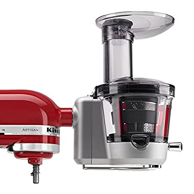 KitchenAid KSM1JA Masticating Juicer and Sauce Attachment, Silver