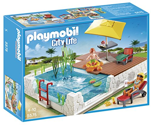 PLAYMOBIL® Swimming Pool with Terrace Play Set