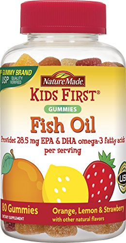 Nature Made Kids First Fish Oil Gummies, 80 Count (Best Fish Oil For Kids)