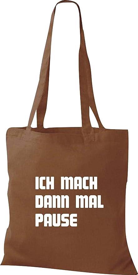 Shirtinstyle Bolsa de Tela, Yo Mach Entonces Veces Pause, Bolsa de Algodón, Bolsa - marrón Medio, 38 cm x 42 cm: Amazon.es: Hogar