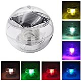 Coquimbo Solar Floating Pond Light, Waterproof LED Color Changing Solar Garden Pool Light Hanging Ball Light with ABS Plastic for Garden Yard Swimming Pool Fountain Fish Tank (1 Pack)