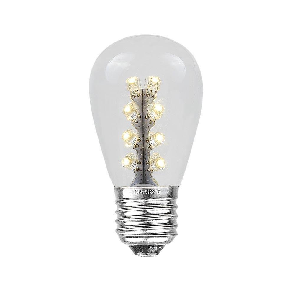 Novelty Lights LED S14 屋外テラスエジソン交換用電球 25個パック E26 並形口金 1ワット 25 Pack PG-LED-S14-WW B00M8DODZA Warm White (16 Led) 25 Pack