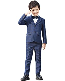 fc369a6bb39a7 (チェリーレッド) CherryRed 男の子 子供 ボーイズ フォーマル スーツ チェック 5点セット 卒業式