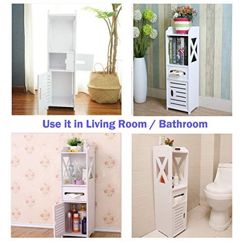 Bathroom Cabinet, Fresh Household Mini Bathroom Shelf to Storage Tissue Dispensers Organizer Rack by Fresh Household (Image #1)