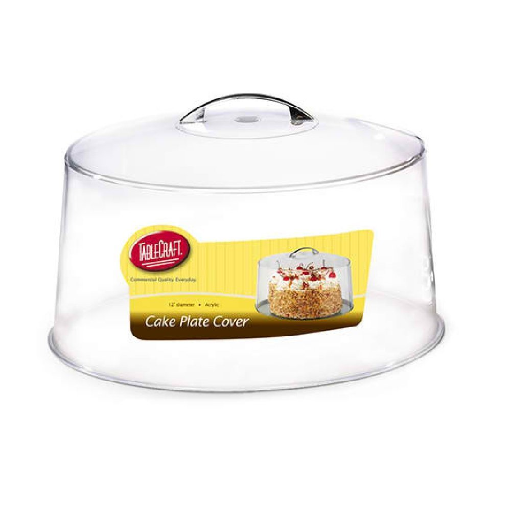 Tablecraft 12 Cake Plate /& Cover Chrome Plated Handle