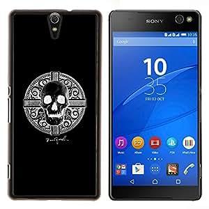 Stuss Case / Funda Carcasa protectora - Vikingo Negro Muerte Skull Shield Warrior - Sony Xperia C5 Ultra