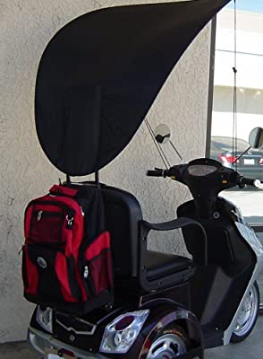 Canopy and Backpack for Mobility Scooter