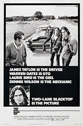 Posterazzi Two-Lane Blacktop Us Warren Oates Laurie Bird Dennis Wilson Bottom Left Inset: James Taylor 1971 Movie Masterprint Poster Print (11 x 17)