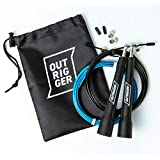 Speed Skipping/Jump Rope (Multiple Colors) Adjustable to All Heights - Ideal for Crossfit and Boxing