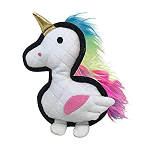 FOUFIT 85659 Rainbow Bright Tough Toy for Dogs, Unicorn, 8″