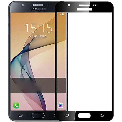 official photos 729d7 49702 Samsung Galaxy J7 Prime Tempered Glass, Johra Real HD+ Front Full Cover  Black Tempered Glass for Samsung J7 Prime Tempered Glass