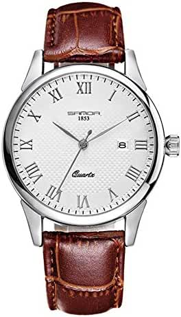 Juniors Boys High Quality Super Thin Quartz Analog Coffee Leather Strap Watch Lovers Watches Ages 15-20