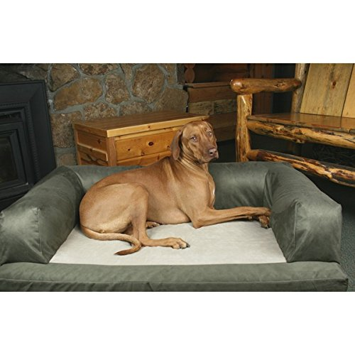Great Dane - XL Dog Bed Hypo-loft Fiber and Orthopedic Foam Removable-cover Baxter Dog Couch - Sage/Cream by Hidden Valley