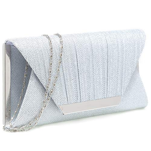 Silver clutch purses for women evening bags and clutches for women evening(Silver)Silver clutch purses for women evening bags and clutches for women evening bag purses and handbags evening clutch purs