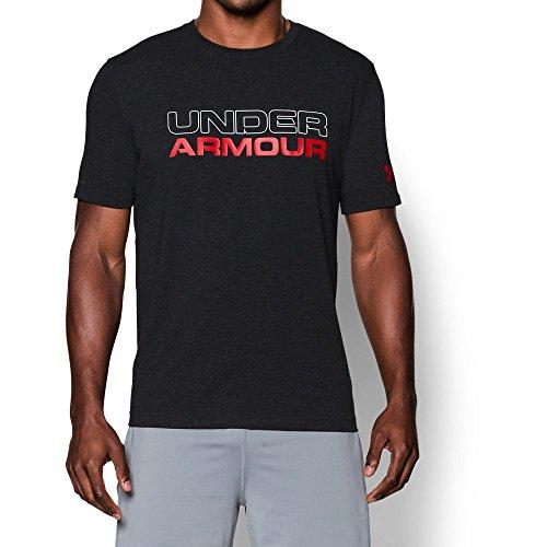 Under Armour Men's Wordmark T-Shirt, Black/White, XXX-Large