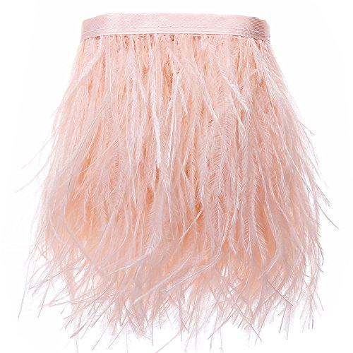 Feathered Skirts Costumes - Ostrich Feathers Trims Fringe with Satin