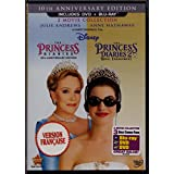 Disney : Le Journal d'une Princesse - The Princess Diaries (2001) Doublé au Québec / Le Journal d'une Princesse 2: Les Fiançailles Royales - The Princess Diaries 2: Royal Engagement (2004) Doublé au Québec (English/French) 2 Films (Widescreen) Three-Disc Combo Blu-ray/DVD Combo in DVD Packaging